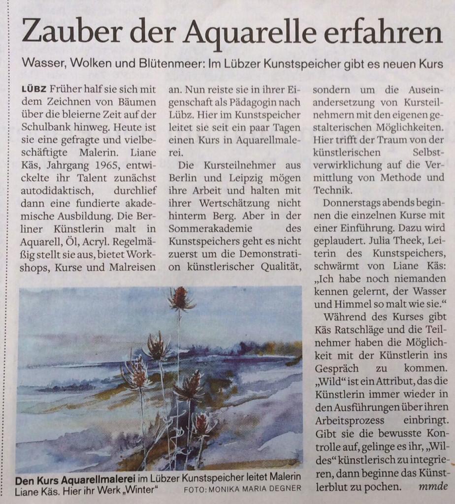 Lübzer Kunstspeicher Kurs Aquarell
