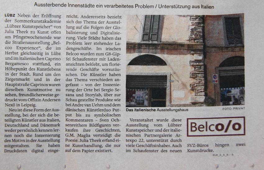 Lübzer Kunstspeicher Ausstellung Italien